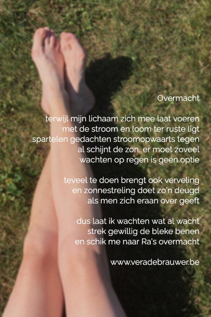 Overmacht, gedicht van Vera De Brauwer
